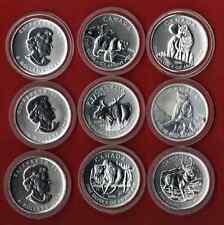 Wildlife Canada  Serie  6 x 1 Oz  1 Oz Silber   je 5 $ Canada  * eingekapselt *
