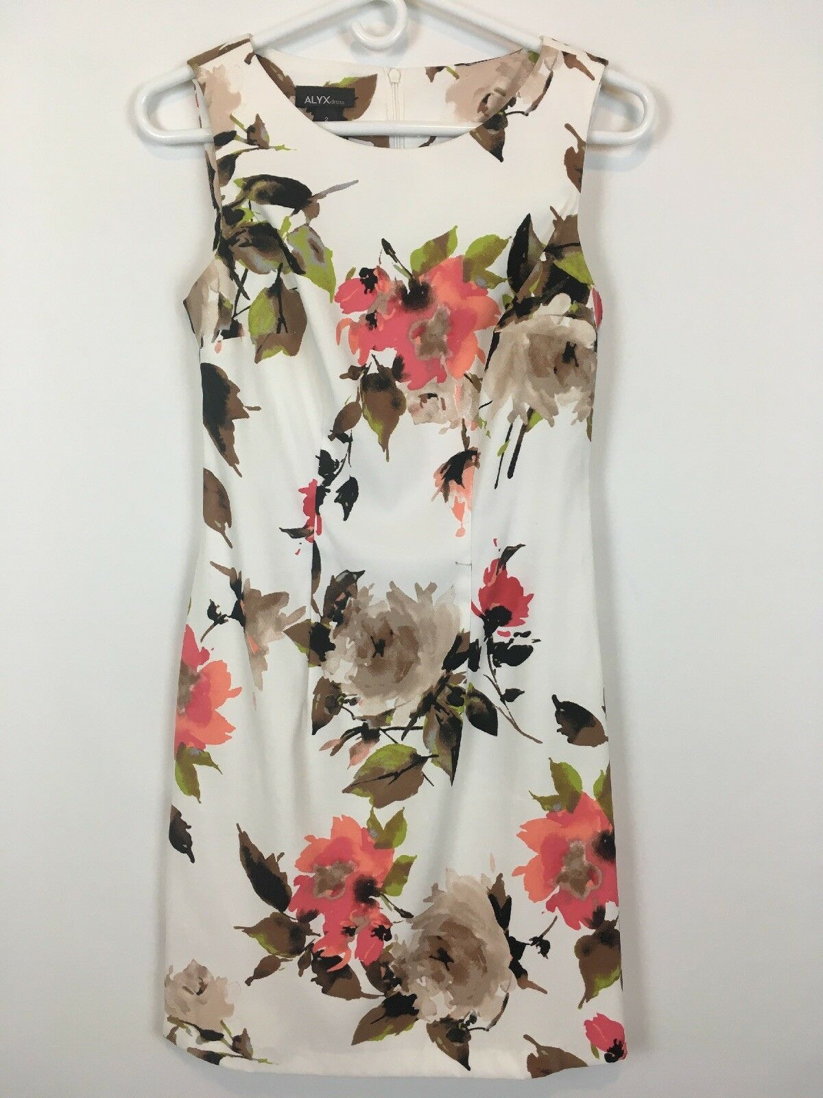 Alyx Dress Womens pinks Floral Sleeveless Sheath Midi Dress Size 2 A1203