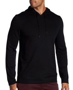 John-Varvatos-Star-USA-Men-039-s-Long-Sleeve-Pullover-Drawstring-Hoodie-Solid-Black