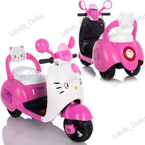 KIDS-PINK-CUTE-MOTORCYCLE-HELLO-KITTY-STYLE-MOTORBIKE-RIDE-ON-LIGHT-SD-USB