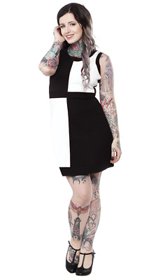 Sourpuss Spooksville Moon Faces Punk Tattoo Emo Goth Rocker Dress SPDR291