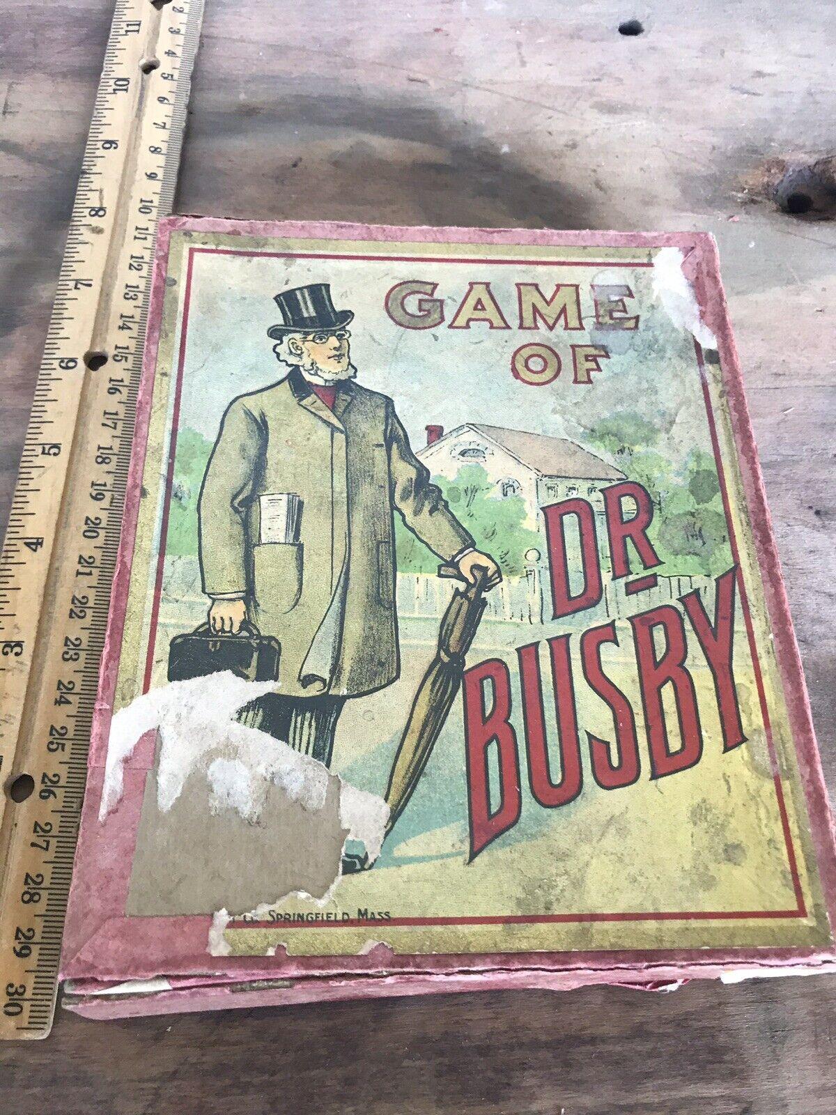Raro Dr Busby Milton Bradly Juego de Cartas Raras tarjetas 20 increíble tarjeta original 1905