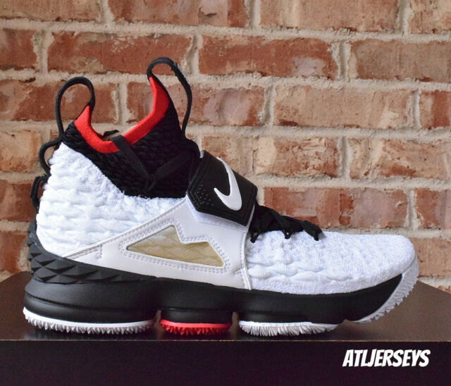314cd3a95504 Nike Lebron XV 15 Prime Diamond Turf Deion Sanders White Black AO9144-100
