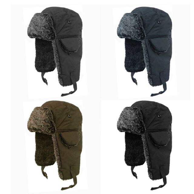 1d41fbd00 UNISEX ADULTS MEN'S WOMEN'S WINTER WARM FUR LINED WATERPROOF RUSSIAN  TRAPPER HAT