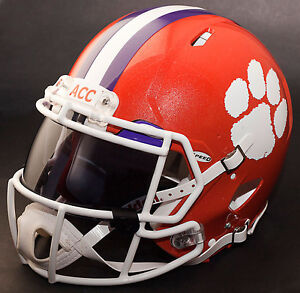 separation shoes 951d9 3f3e7 Details about *CUSTOM* CLEMSON TIGERS NCAA Riddell SPEED Full Size Replica  Football Helmet