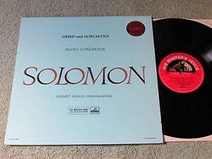 SOLOMON-MENGES-Grieg-amp-Schumann-piano-concertos-HMV-S-C-lable-Stereo-ASD-272