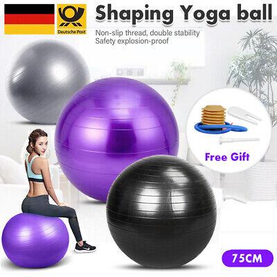 Gymnastikball Pilates Ball Yogaball Gymnastikball Sitzball Sportball inkl Pumpe