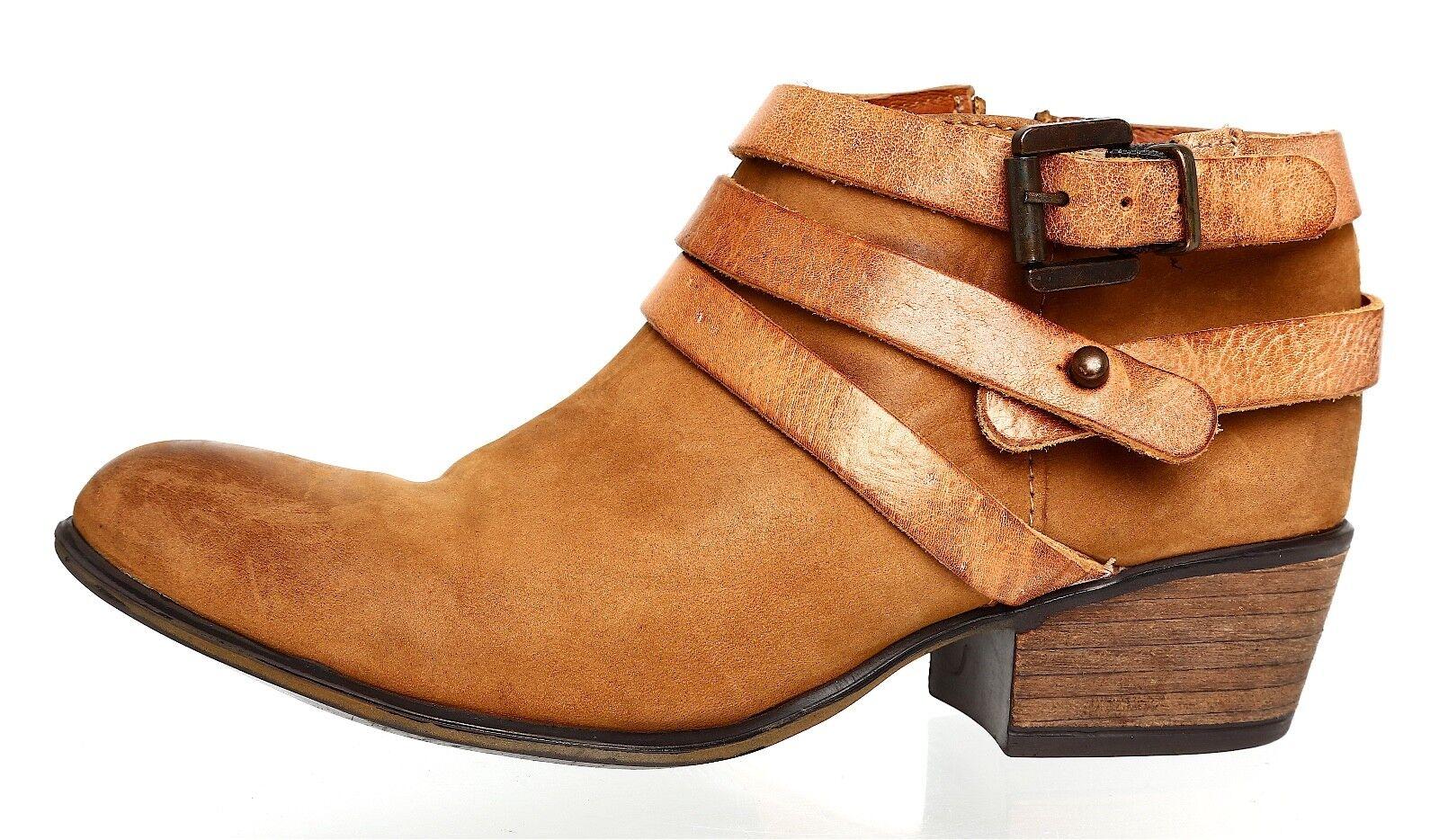 Steve Madden Regennt Leather Bootie Brown Donna Sz 6.5 M 4076 *