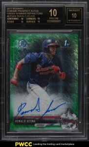 2017-Bowman-Chrome-Green-Shimmer-Refractor-Ronald-Acuna-ROOKIE-AUTO-99-BGS-10