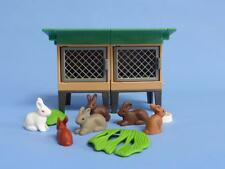 Playmobil Double Stacking Hutch Rabbits & more farm house animal pets NEW
