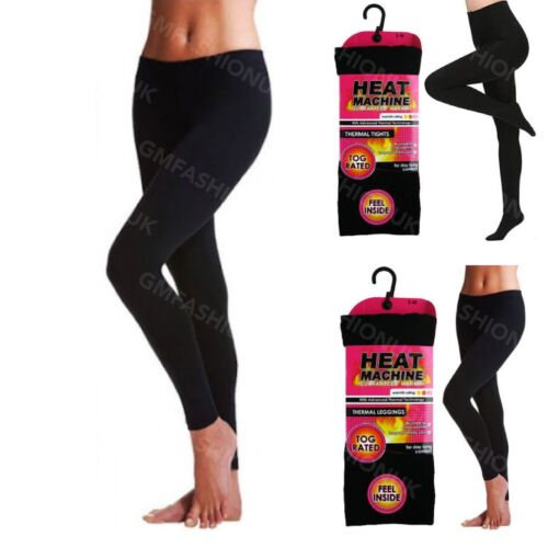 Women Ladies Girls Black Tog Rated Brushed Insulated Thick Warm Thermal Leggings