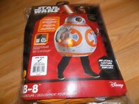 Child One Size 5-7 Disney Star Wars Inflatable Deluxe Bb8 Halloween Costume