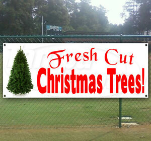 Fresh Cut Christmas Trees Sign.Details About Fresh Cut Christmas Trees Advertising Vinyl Banner Flag Sign Many Size Available