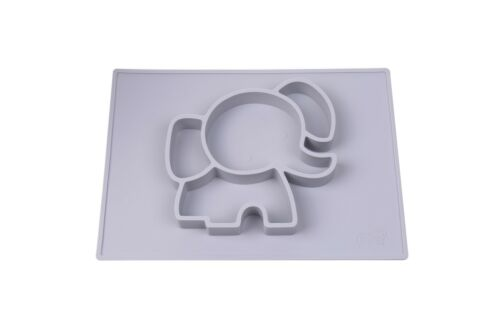 Elephant Baby Placemat Plate Kids toddlers EllieMat shower gift developmental
