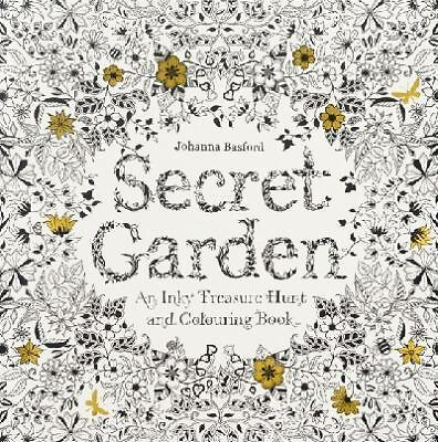 Secret Garden : An Inky Treasure Hunt and Coloring Book by Johanna Basford...