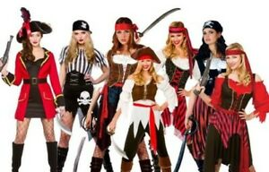 Adult-Pirate-Fancy-Dress-Costume-Ladies-Buccaneer-Caribbean-Womens-Fancy-Dress