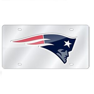 New-England-Patriots-Mirrored-Laser-Cut-License-Plate-Laser-Tag