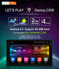 ANDROID 6 4CORE AUTORADIO NAVIGATORE SAT GPS PER 2 DIN UNIVERSALE 4G WIFI 1080P