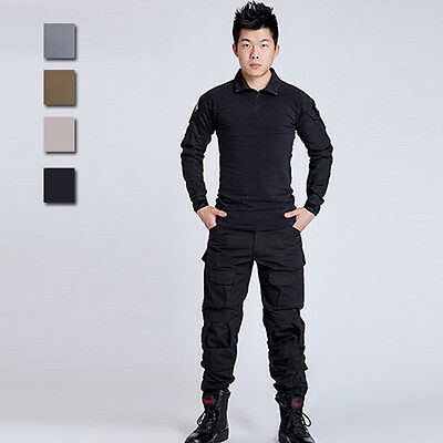 Men New Outdoor Camouflage Jacket Army CS Tactical Clothes Suit Handsome Outwear