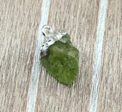 Rough Green Peridot /& Red Garnet Silver Eletcroplated Charms Connector Jewelry