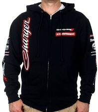 Dodge Charger Hoodie Zip Sweatshirt Muscle Dodge Mens Black Hooded Jacket
