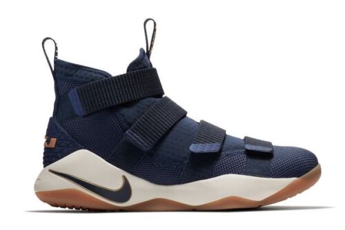 Mens Nike Lebron XI 11 Basketball Shoes Navy Blue White 897644 402 Lebron James