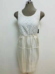 size 4,6,10 Marc New York NWT Exquisite IVORY Lace and Silk Cocktail Dress