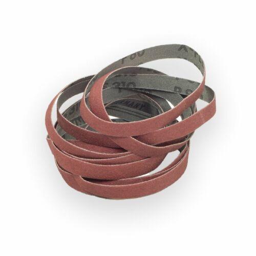 etc. 10 X Klingspor tissus Schleifband abrasifs 10x330 13x457 9x533 mm Korn