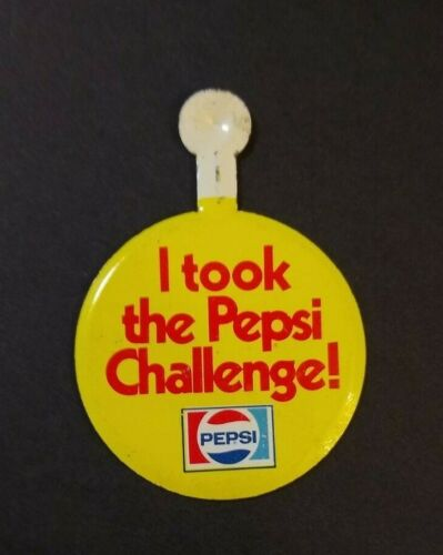 Fold Over Pin  Pinback Button. Q Vintage Pepsi I took the Pepsi Challenge