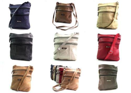 Ladies Genuine Soft Real Leather Crossover Body Bag Shoulder Bag Purse Handbag