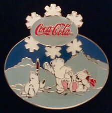 Coca Cola Pin Badge~1997 Vintage~Polar Bears and a Seal Playing~Coke~non-olympic