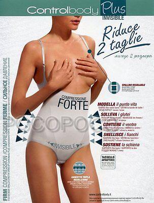 Ingegnoso Body Spalla Stretta Scollo Sottoseno Riduce 2 Taglie Controlbody Art. 510184 2019 Nuovo Stile Di Moda Online
