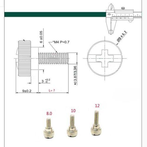 Rändelschrauben M4x8 10 12 16mm Kreuzschlitz PC Gehäuse Schrauben Hohe Form