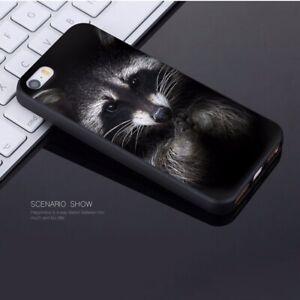 Adorable-Divertido-Animal-Mapache-caso-iPhone-5-5S-SE-6-6S-7-8-Plus-XS-XR-MAX-X