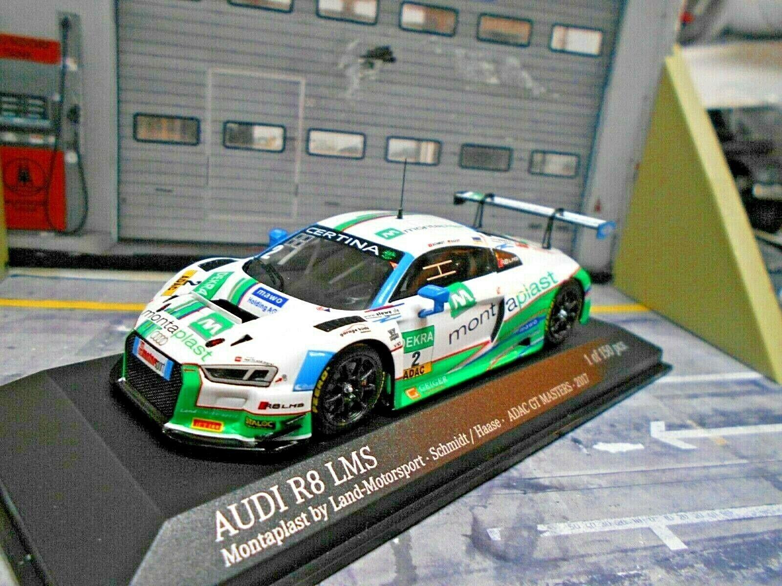 AUDI r8 LMS gt3 ADAC GT Masters 2017  2 paese montaplast Haase Minichamps 1 43