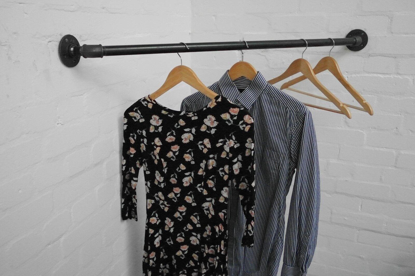 VINTAGE RACCORDO Tubazione Angolo dei vestiti Rail-perfetto per uso domestico o al dettaglio