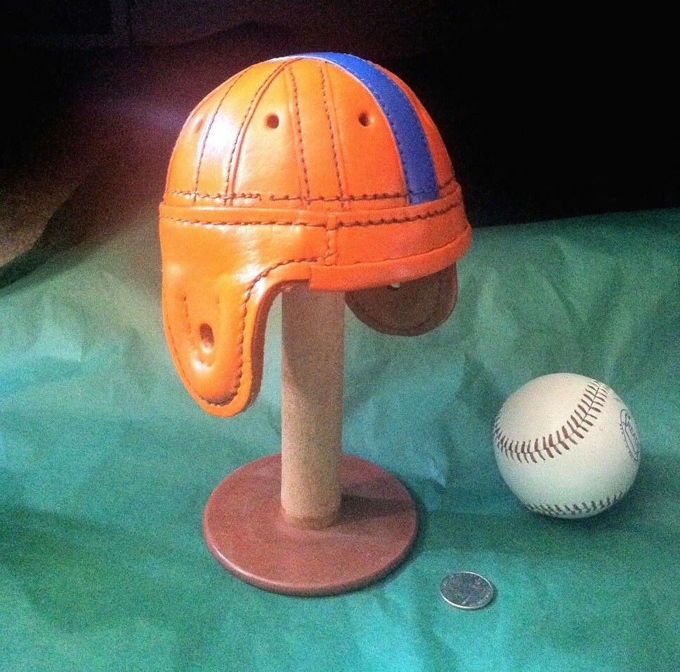 1940  Leather Ole Florida Gators leather mini  1 3 scale Football Helmet