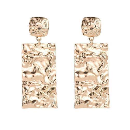 Trendy Punk Jewelry Metal Statement Dangle Drop Earrings Geometric Gold Big Z5Q7