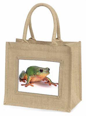 Laubfrosch Reptil Große natürliche jute-einkaufstasche Weihnachten Geschenkidee,