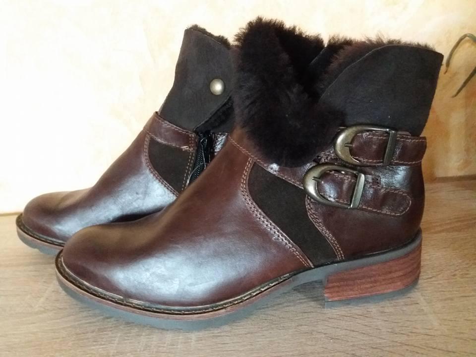 Werner Ankle Boot ny Storlek 42 i Dark bspringaaa bspringaaa bspringaaa och Nappa läder med Sherling  senaste stilar