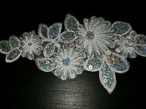 Flower applique on onewed