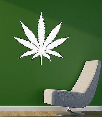 Wall Sticker Vinyl Decal Weed Smoke Rastafarian Cannabis Marijuana Drug (ig1143)