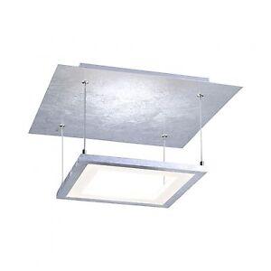 paul neuhaus nevis led deckenleuchte deckenlampe silber quadratisch 8134 21 ebay. Black Bedroom Furniture Sets. Home Design Ideas