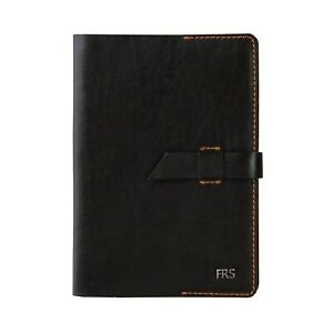 A5 Notebook Leather Journal Personalised Notebook with Leather Flap Closure