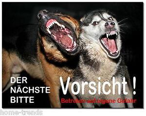 FleißIg Gefährlicher-hund-aluminium-schild-0,5-3mm Dick-türschild-warnschild-hundeschild Außen- & Türdekoration