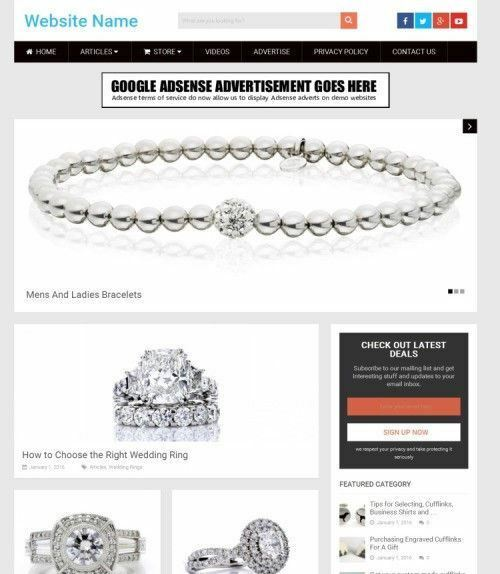 JEWELLERY STORE - Work From Home Online Business Website For Sale + Domain 2