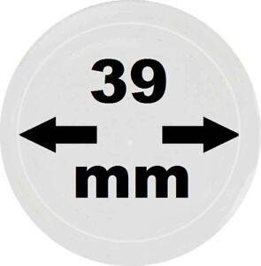 100-x-look-munzkapseln-39-mm-de-diametro-interior-exterior-45-mm-de-vidrio-claro-con-borde