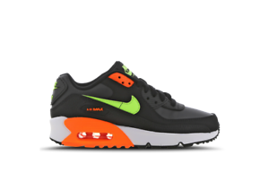 Nike-Air-Max-90-UK-Size-6-Women-039-s-Trainers-Black-Leather-Shoes