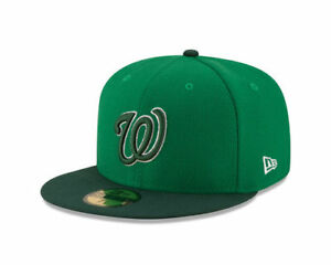 032c8fec601ea Washington Nationals New Era MLB St. Patrick s Day 59FIFTY Baseball ...