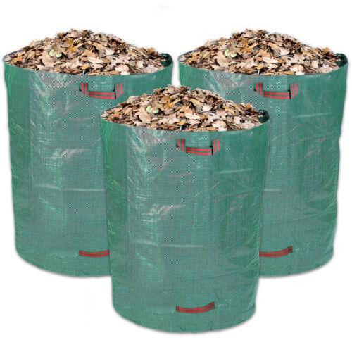 Schramm® 3 Stück Gartensäcke 120L Grün Robusten Polypropylen Gewebe Gartensäcke
